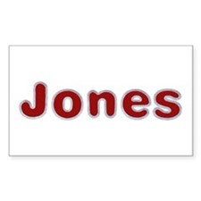 Jones Santa Fur Rectangle Decal