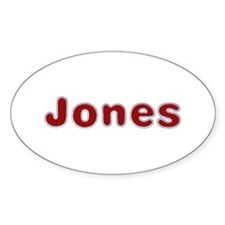 Jones Santa Fur Oval Decal