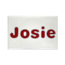 Josie Santa Fur Rectangle Magnet