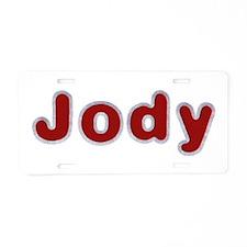 Jody Santa Fur Aluminum License Plate