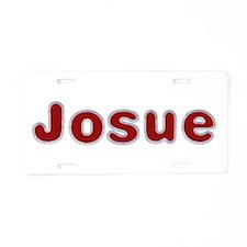 Josue Santa Fur Aluminum License Plate