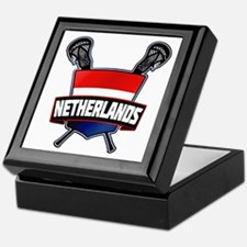 Dutch Nederland Lacrosse Logo Keepsake Box
