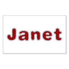 Janet Santa Fur Rectangle Decal