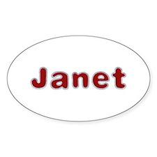Janet Santa Fur Oval Sticker 10 Pack