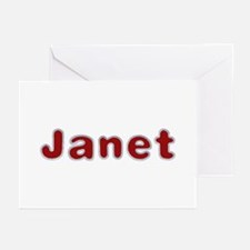 Janet Santa Fur Greeting Card 20 Pack