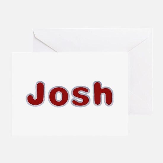 Josh Santa Fur Greeting Card