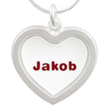 Jakob Santa Fur Silver Heart Necklace