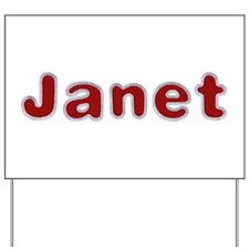 Janet Santa Fur Yard Sign