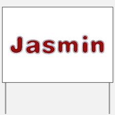Jasmin Santa Fur Yard Sign