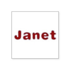 Janet Santa Fur Square Sticker