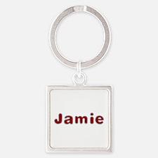 Jamie Santa Fur Square Keychain