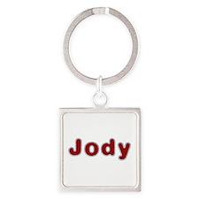 Jody Santa Fur Square Keychain