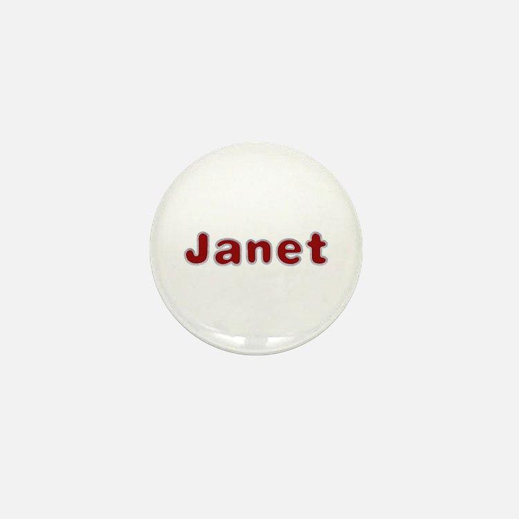 Janet Santa Fur Mini Button