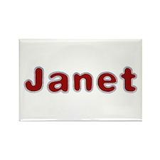 Janet Santa Fur Rectangle Magnet 100 Pack