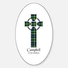 Cross - Campbell of Breadalbane Sticker (Oval)
