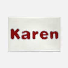 Karen Santa Fur Rectangle Magnet