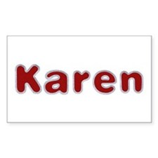 Karen Santa Fur Rectangle Decal
