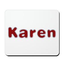 Karen Santa Fur Mousepad