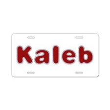 Kaleb Santa Fur Aluminum License Plate