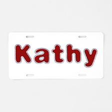 Kathy Santa Fur Aluminum License Plate