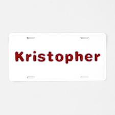 Kristopher Santa Fur Aluminum License Plate