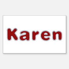 Karen Santa Fur Rectangle Decal