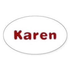 Karen Santa Fur Oval Sticker 10 Pack