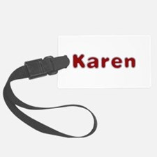 Karen Santa Fur Luggage Tag