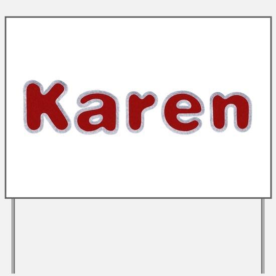 Karen Santa Fur Yard Sign