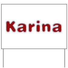 Karina Santa Fur Yard Sign