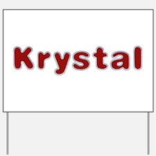 Krystal Santa Fur Yard Sign