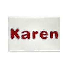 Karen Santa Fur Rectangle Magnet 100 Pack