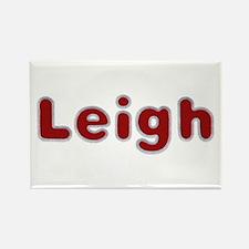 Leigh Santa Fur Rectangle Magnet