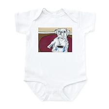 Coffee Boxer (white) Infant Bodysuit