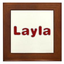 Layla Santa Fur Framed Tile