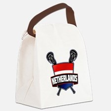 Dutch Nederland Lacrosse Logo Canvas Lunch Bag