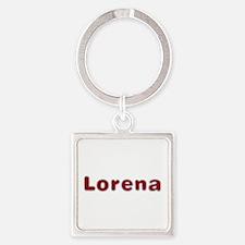 Lorena Santa Fur Square Keychain