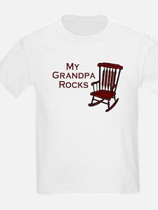 My Grandpa Rocks Kids T-Shirt