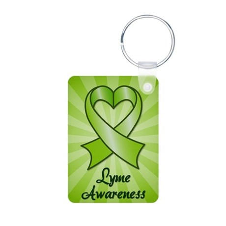 Lyme Disease Awareness Heart Ribbon Aluminum Photo