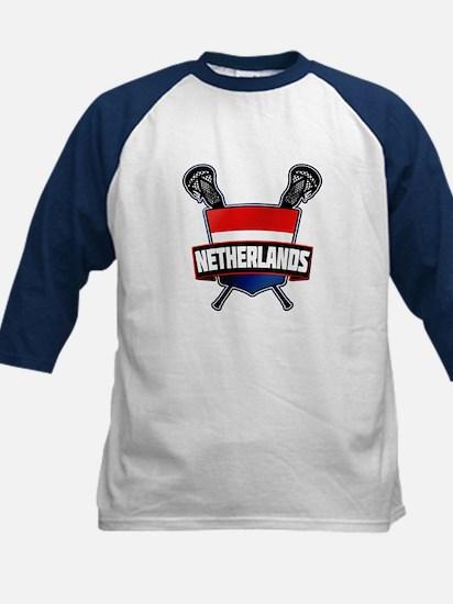 Dutch Nederland Lacrosse Logo Baseball Jersey