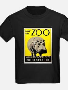 Antique 1936 Hippo Philadelphia Zoo Poster T-Shirt
