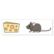 Mouse and Cheese Bumper Bumper Sticker