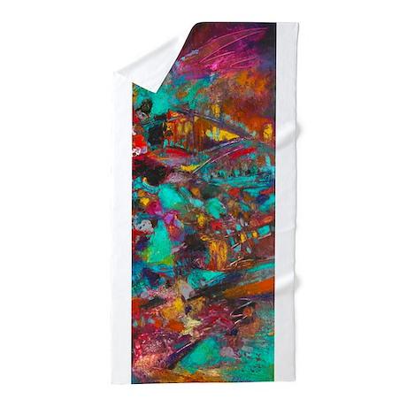 Technicolor Dream Beach Towel