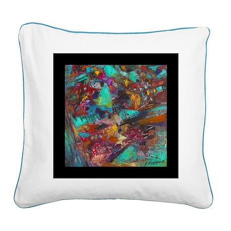 Technicolor Dream Square Canvas Pillow