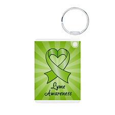 Lyme Disease Awareness Heart Ribbon Aluminum Photo