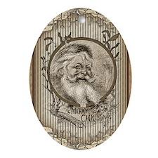 Thomas Nast  Santa Claus Christmas Oval Ornament