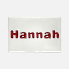Hannah Santa Fur Rectangle Magnet