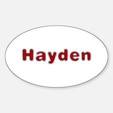 Hayden Santa Fur Oval Decal