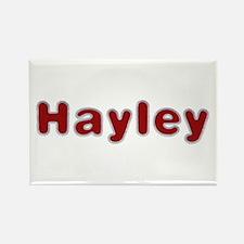 Hayley Santa Fur Rectangle Magnet