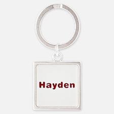 Hayden Santa Fur Square Keychain